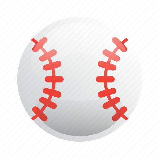 ball, baseball, glossy, sports icon