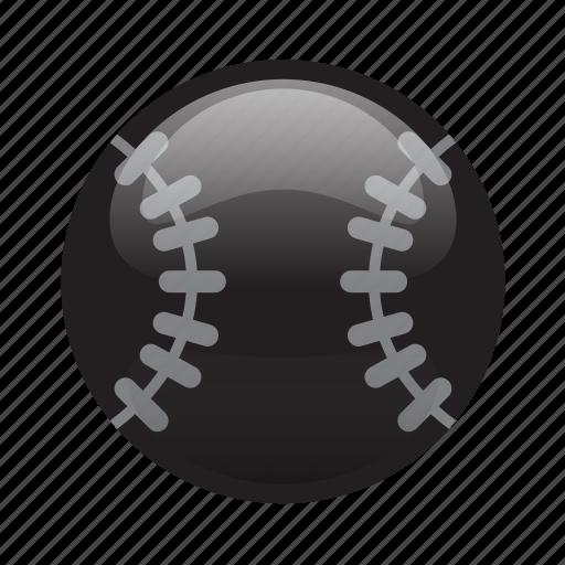 ball, baseball, glossy, sports icon