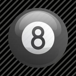 ball, billiards, glossy, pool, sports icon