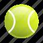 ball, glossy, sports, tennis, tennis ball icon