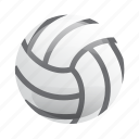 ball, glossy, sports, volleyball