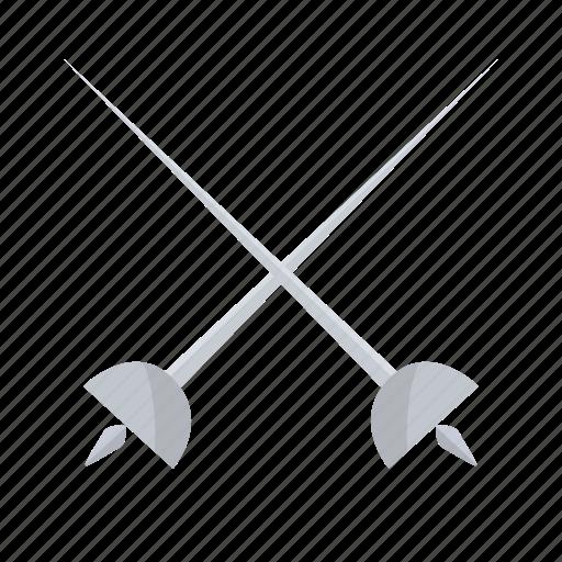 fencing, sport, sword icon