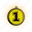 achievement, award, comics icon, competition, first, place, winner icon