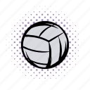 ball, comics, equipment, hobby, recreation, tournament, voleyball icon