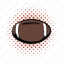 american, ball, comics, football, game, oval, play icon