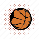 activity, ball, basketball, comics, equipment, orange, sphere icon