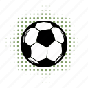 ball, closeup, comics, football, play, soccer, sphere icon