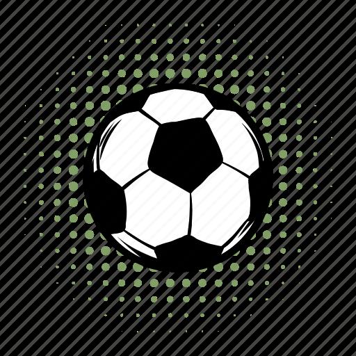ball, closeup, comics, football, play, soccer, sphere icon