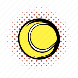 ball, circle, comics, equipment, round, sphere, tennis icon