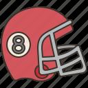 american, football, gear, helmet, uniform