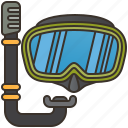 diving, goggles, mask, scuba, snorkel icon