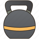 dumbbell, exercise, fitness, gym, kettlebell icon