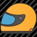 biker, helmet, motorcycle, protection, racing