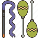 athletic, equipment, gymnastics, rhythmic, ribbon