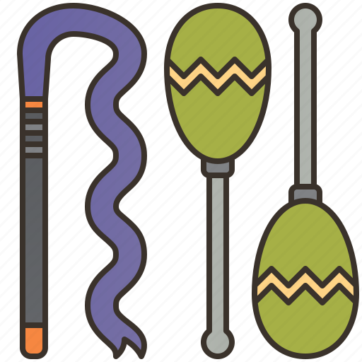 Athletic, equipment, gymnastics, rhythmic, ribbon icon - Download on Iconfinder