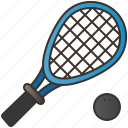 equipment, fitness, game, racquet, squash icon
