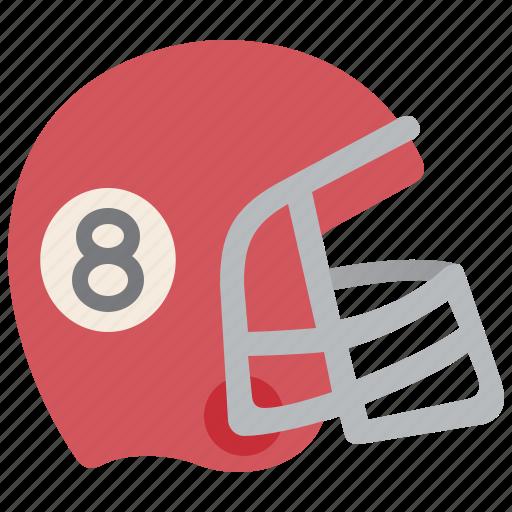 american, football, gear, helmet, uniform icon