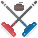 brush, curling, ice, sport, stone
