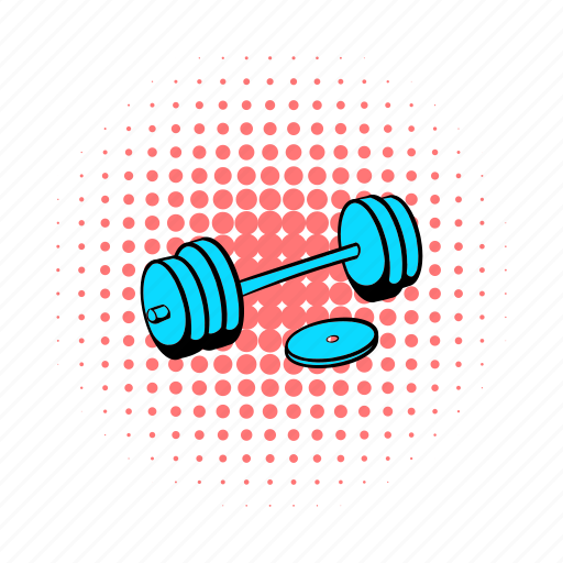barbell, comics, dumbbell, fitness, health, muscle, strength icon