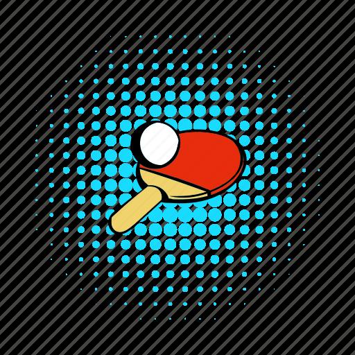 ball, comics, game, racket, sport, table, tennis icon