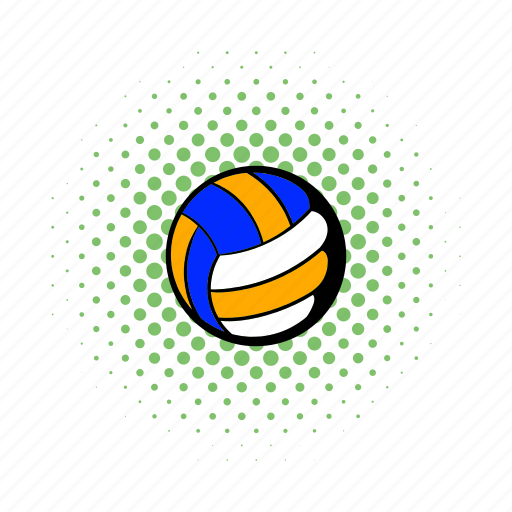 ball, comics, game, leather, sport, team, volleyball icon