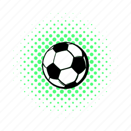 ball, comics, football, game, goal, soccer, sport icon