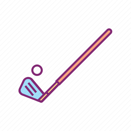 club, equipment, gear, golf, sport, sports, stick icon