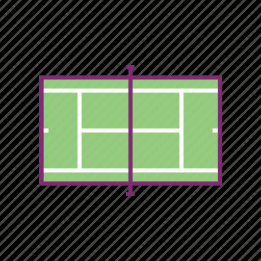 court, field, sport, sports, tennis icon