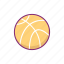 ball, basketball, equipment, sport, sports icon