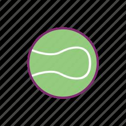 ball, equipment, sport, sports, tennis icon