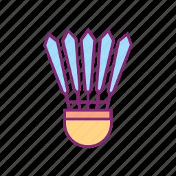 badminton, shuttlecock, sport, sports icon
