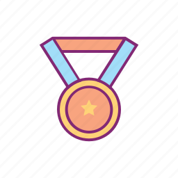 equipment, gold, medal, olympic, sports, winner icon