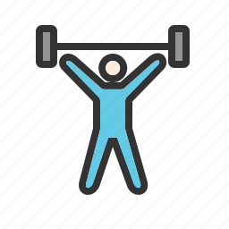 dumbbells, exercise, gym, heavy, weight, weightlifter, workout icon