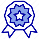 award, badge, prize, recognition, reward, ribbon, star