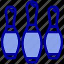bowling, club, game, pins, play, sport, sports icon