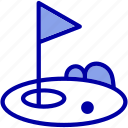 flag, game, golf, hole, play, sport, sports icon