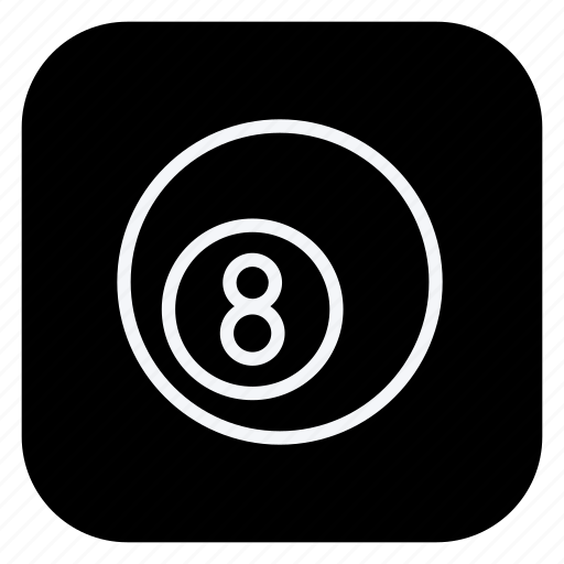 ball, eight ball, game, gym, healthcare, sport, sports icon