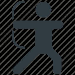 archery, archery arrow, medieval arrow, shooting arrow, target arrow icon