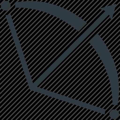 archery, archery arrow, archery bow, hunting, weapon icon