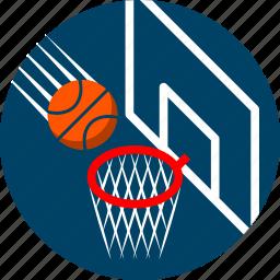 basket, basketball, basketball hoop, goal, nba, playoff, sports icon