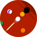 billiard ball, billiard pocket, billiard stick, billiards, snooker, snooker ball, sports icon