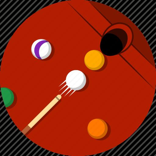 billiard ball, billiard pocket, billiard stick, billiards, snooker, snooker ball, sports icon
