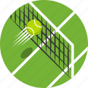 lawn, net, olympics, sports, tennis, tennis ball, tennis court icon
