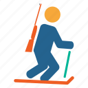 adventure, biathlon, game, hunting, olympics, sports, tracking icon