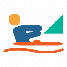 boat, boatsailing, olympics, river, rower, rowing, sports icon