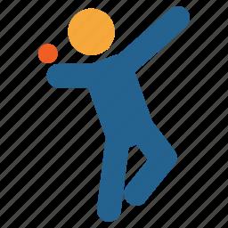 ball, games, handball, olympics, play, sports, throwing icon