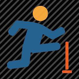games, hurdlerace, jump, olympics, play, race, sports icon