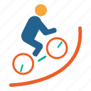 bicycle, games, gymanstics, olympics, play, sports, triathlon icon