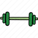 barbell, dumbbells, fitness, gym, muscles, sports, weight