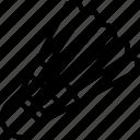 badminton, bird, birdie, projectile, shuttlecock icon